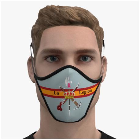 Mascara protectora reutilizable Legión