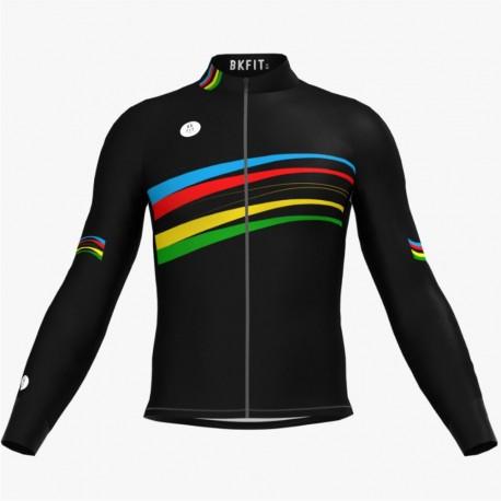Chaqueta de Ciclismo Arcoiris Black