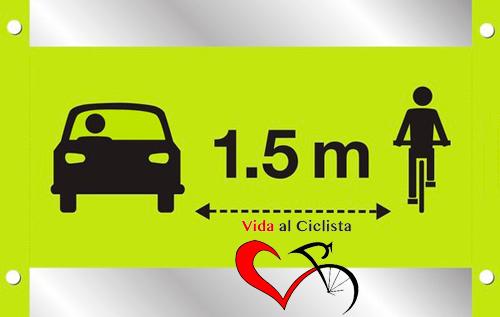 1,5 metros vida al ciclista