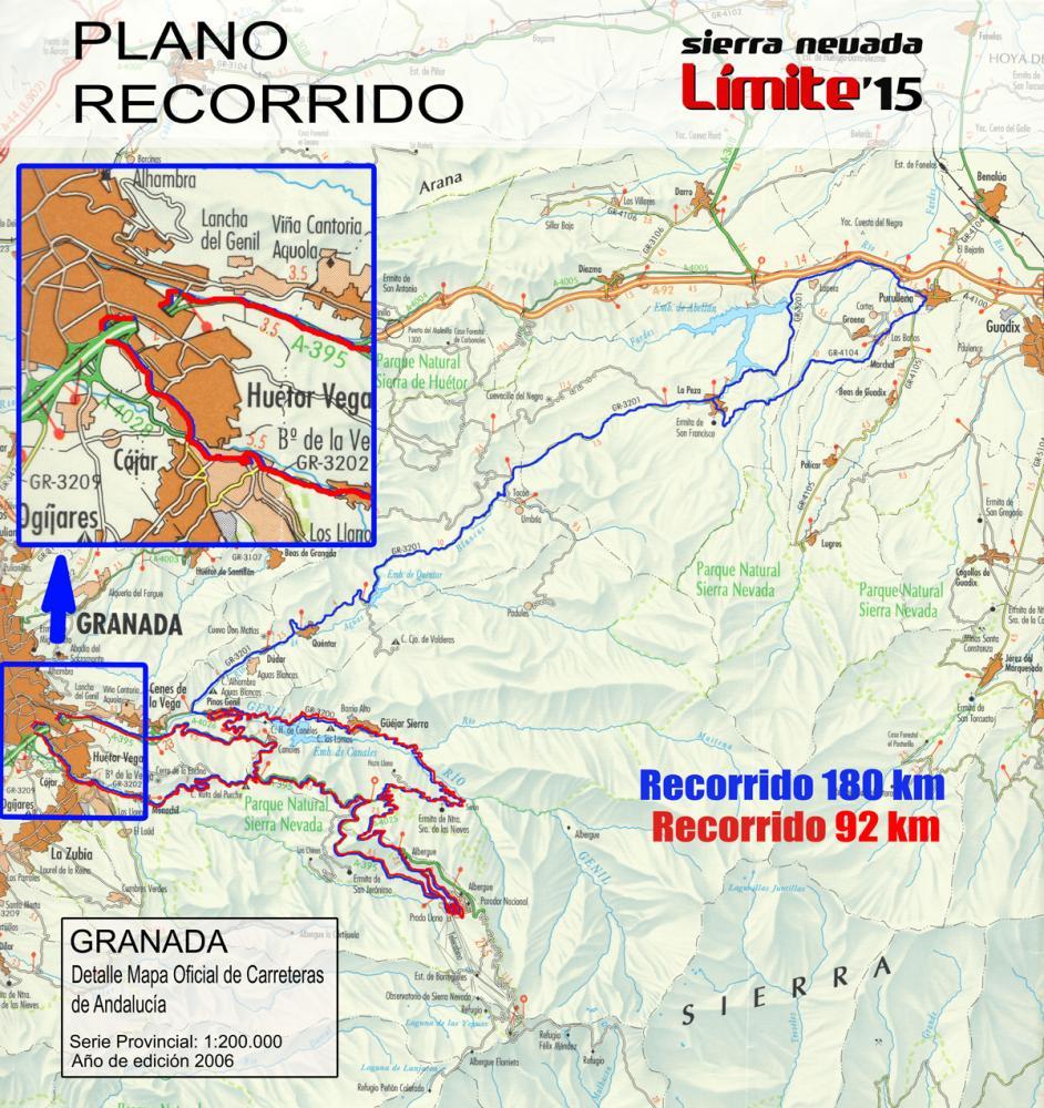 Plano Recorrido Sierra Nevada Limite 2015 180 92km