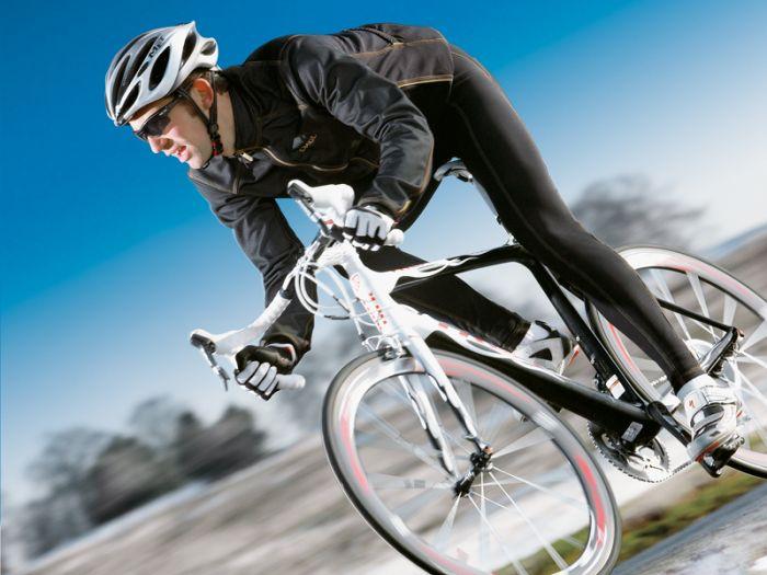 Practicar ciclismo en invierno